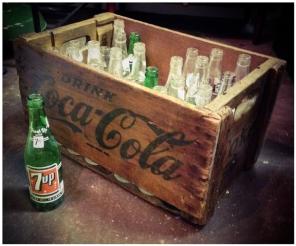 Coca Cola Crate & Soda Bottles