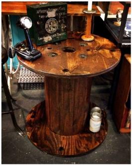 Vintage Industrial Spool Table