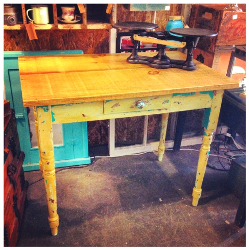 Rustic Pine Top Table