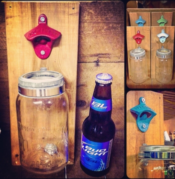 Bottle Opener Mason Jar Hangers