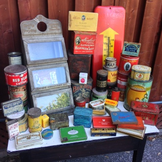 Tobacco and Advertising Tins