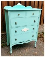 Painted Turquiose Dresser