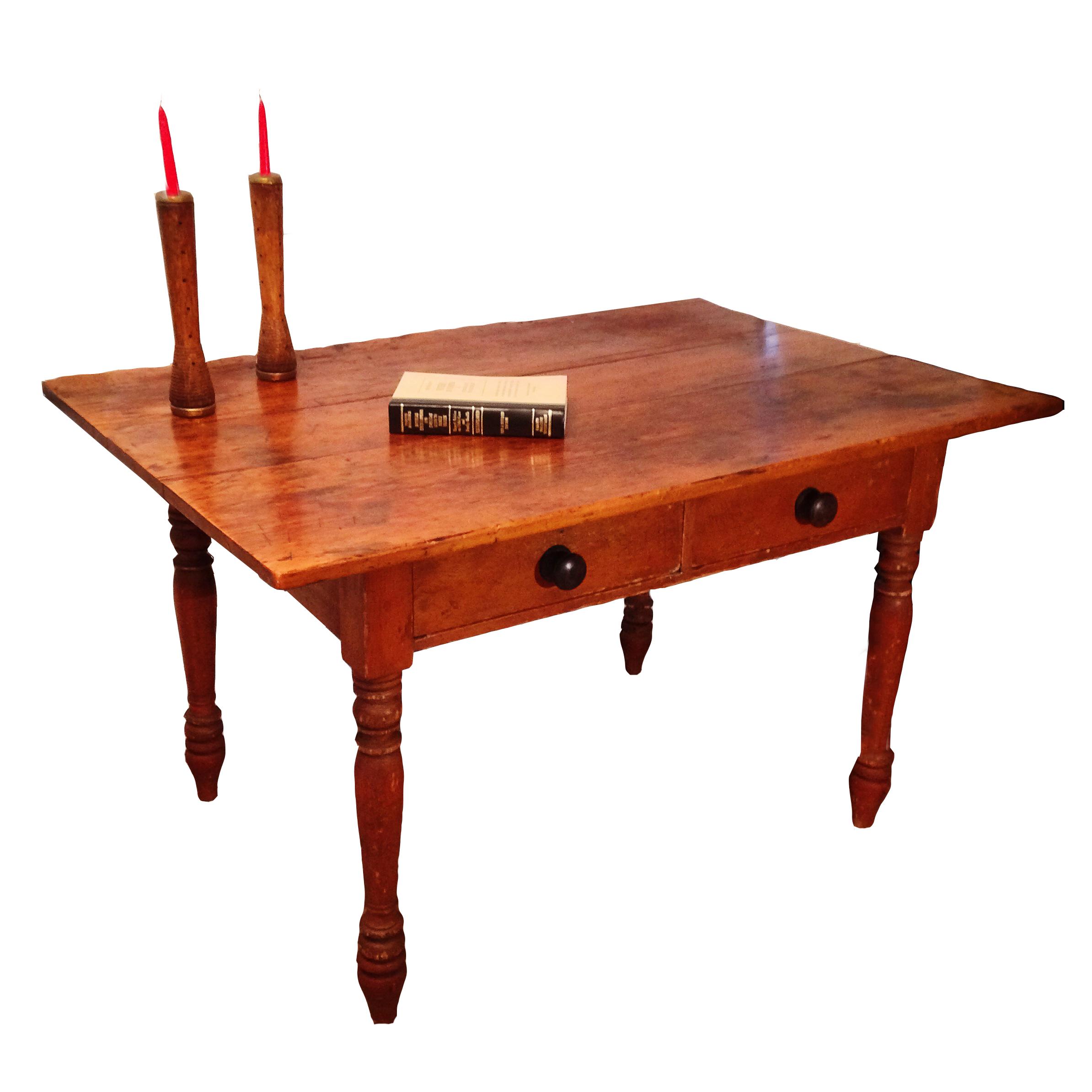 1800\'s Quebec Pine Harvest Table | AJ\'s Antique Revival