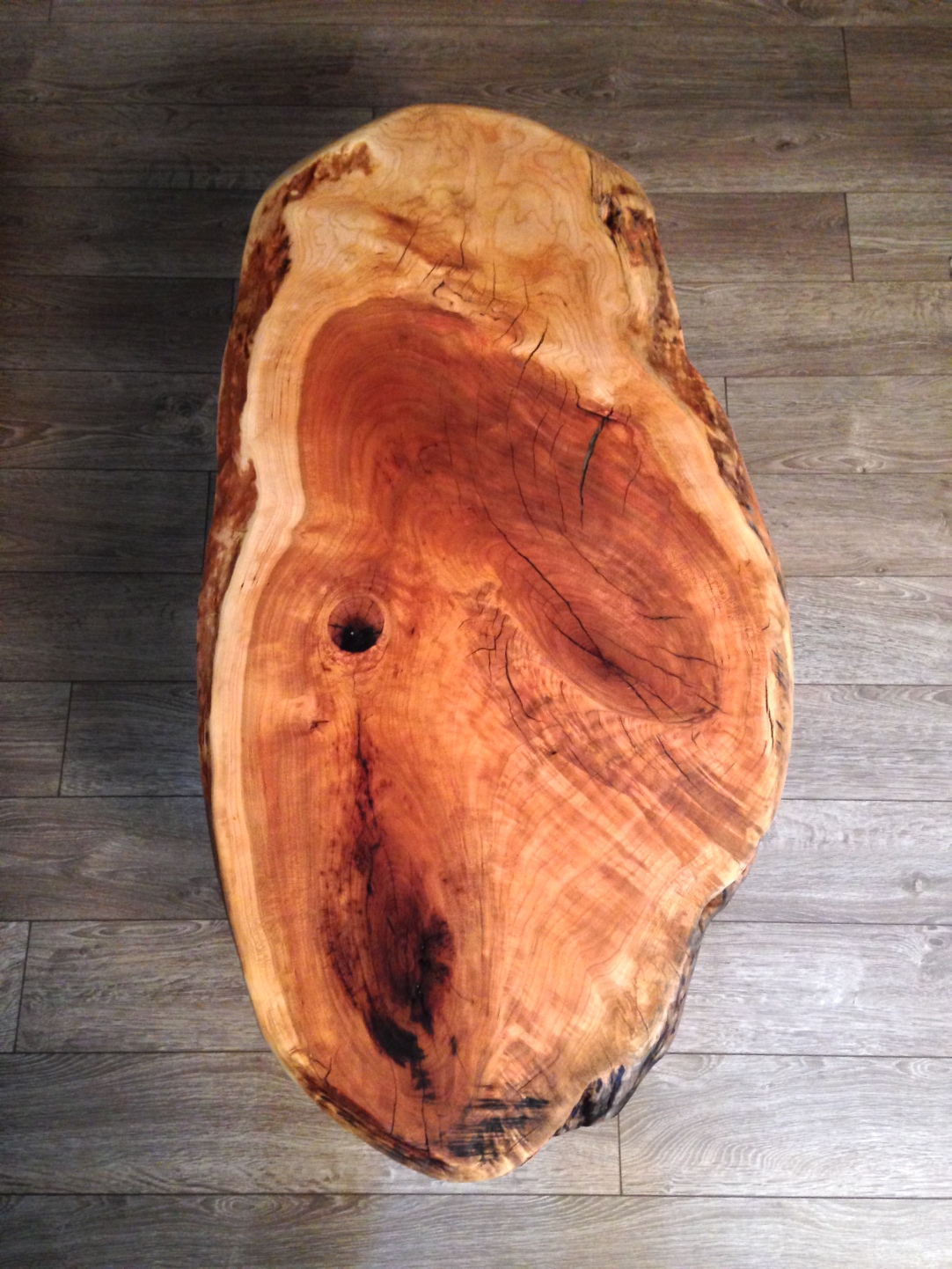 Live Edge Cherry Knot Coffee Table