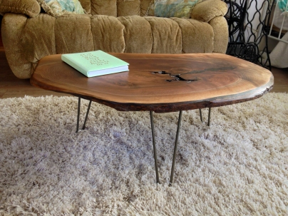 Black Walnut Knot Table