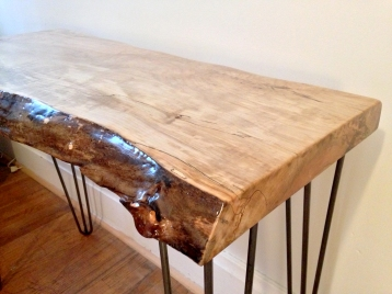 Spalted Maple Console Table